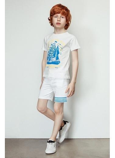 Nebbati Erkek Çocuk Beyaz Şort 19SS2NB3149 Beyaz